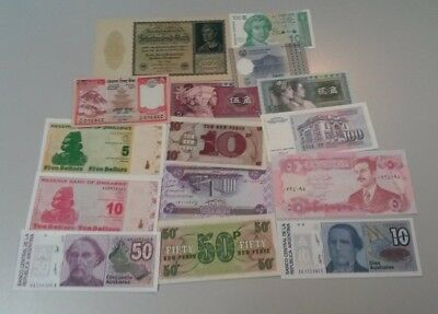 World Banknotes - Bulk Lot of 15 World Banknote Assortment of Notes Unc: Set # 4