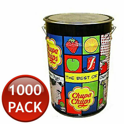 Chupa Chups Mega Tin 1000 Lollipops Lollies Candies Candy Gift Party Bag Filler
