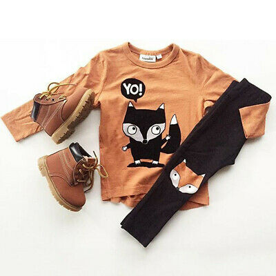 UK Toddler Kids Baby Boys Casual Clothes Boys Outfits Sets T-shirts + Pants NEW