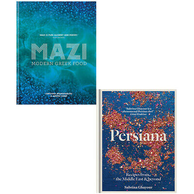Persian Recipes from the Middle, MAZI Modern Greek Food 2 Books Collection Set
