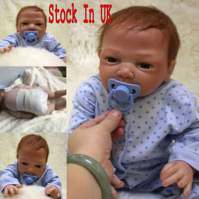 "20"" Full Body Realistic Reborn Dolls Lifelike Baby Boy Newborn Doll Gifts"