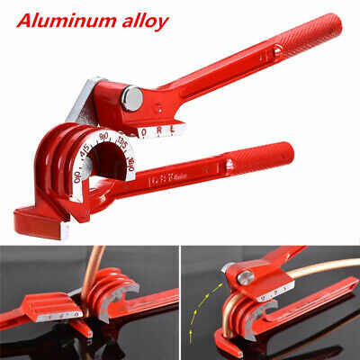 Red Aluminum Alloy 180° Pipe Tube Bending Machine Tool Fuel Line Curving Pliers