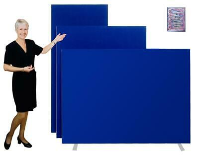 Office Screen Partition Panel Floor Room Divider H1800mm - 6 Widths - 3 Colours