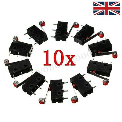 10x Micro Roller Lever Arm Open Close Limit Switch Kw12-3 PCB Microswitch Hot