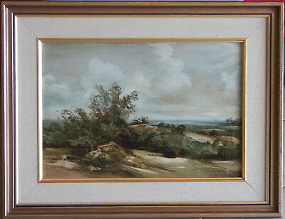Norman Robins (1914-88) Original Oil Painting Moving Clouds Towards the Plains