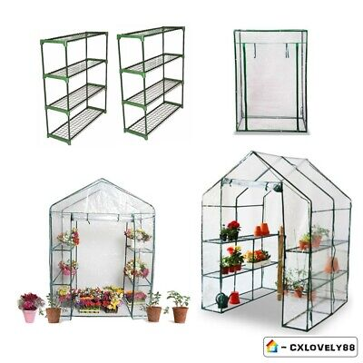 Walk-In Greenhouse With Frame/Shelves/Pvc Plastic Cover Garden Grow House Choice