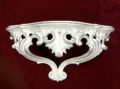Mirror Console,Wall Console ,Shelf,Shelf,White Silver 38x20 Antique,Ornaments