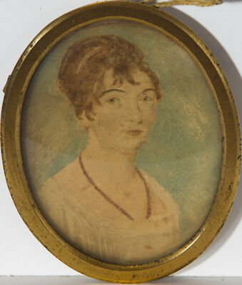 Set of Two Late 19th Century Watercolour - Portraits of a Lady and Gentleman
