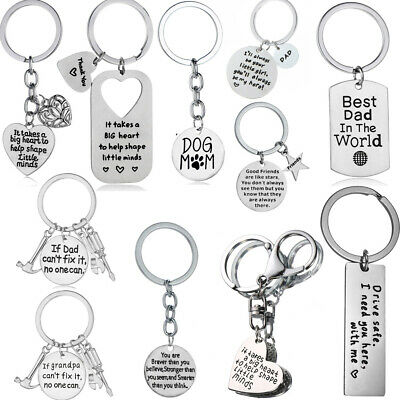 Keychain Gift THANK YOU Best Friends Key Chain Pendant Inspirational Keyring
