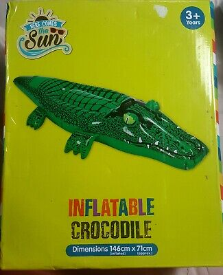 Intex Inflatable Wave Rider crocodile Ride On Beach Toy Swimming Pool Float Raft