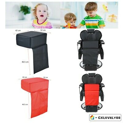 Black/Red Child Kid Cushion Chair Seat Booster Barber Salon Haircut Hairdressing