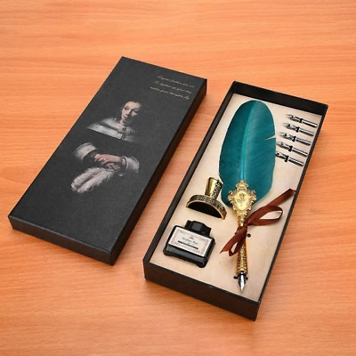 Retro Classical fountain pen feather Quill set stationery gift box alligraphy