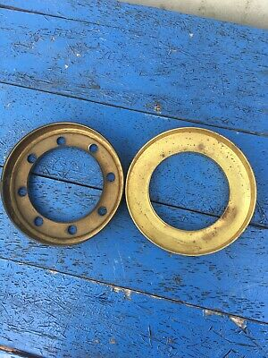 Vintage brass oil lamp gallery for oil lamp shade - parts X 2