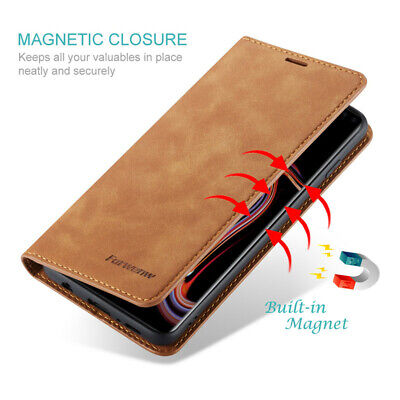 For Samsung Galaxy S10 Plus S10e Luxury Magnetic Flip Leather Wallet Case Cover