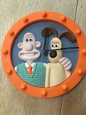 Rare Boxed Wallace & Gromit Wall Clock Collectors 1997 Edition FULLY WORKING