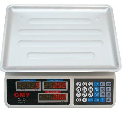 40Kg Digital Scale Electronic Price Computing Weight Shop Market Kitchen Shop
