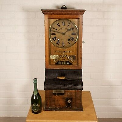 NATIONAL TIME RECORDER Clocking in Factory Clock 1920s