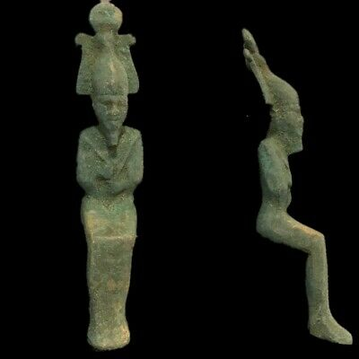 Beautiful Ancient Egyptian Bronze Osiris Statue 300 Bc (2)