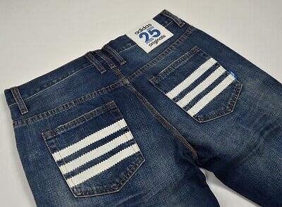 Adidas Originals 25 Stripes Jeans Nigo Design Pant Hose Herren Denim Blau Blue