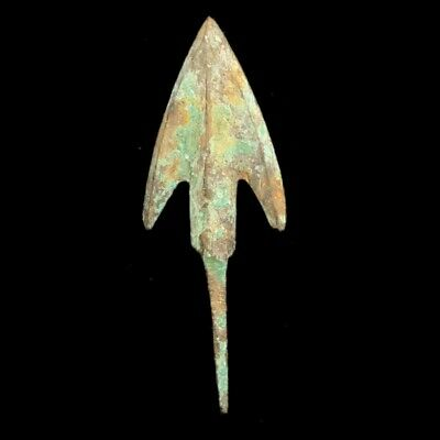 RARE ANCIENT VIKING BRONZE ARROW HEAD 9-10th CENTURY AD (1)