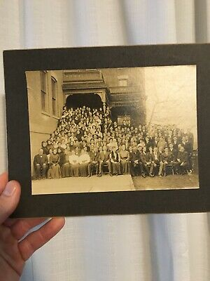 Vintage Late 1800's Photograph Large Gathering of Townspeople, Oregon