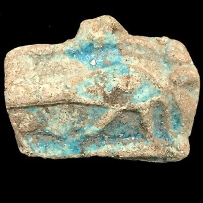 Rare Beautiful Ancient Egyptian Faience Glazed Amulet 300 B.c.  (3)