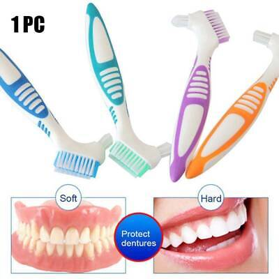 Denture Brush Grip DOUBLE SIDE Braces/Gum Shield/Retainer Germ Remover Cleaning