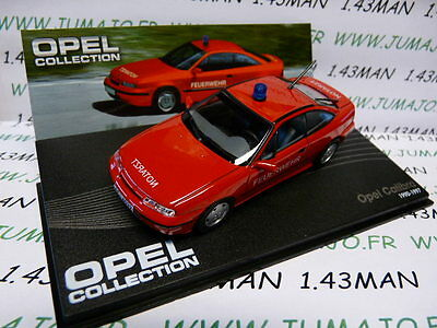 OPE105R voiture 1/43 IXO eagle moss OPEL collection : CALIBRA Pompiers 1990/1997