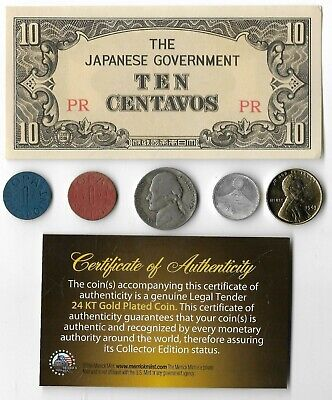 Rare US WW2 Coin Collection Lot Japan Note Silver War Nickel Gold Lincoln OPA W2