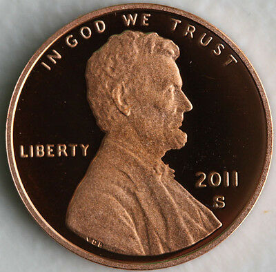 2011 Proof Union Shield Lincoln One Cent Penny Coin US San Francisco Mint