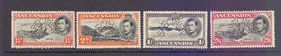 ASCENSION 1938-53 KGVI Four Values to 2s6d with Perf SPECIMEN Punctures MNG