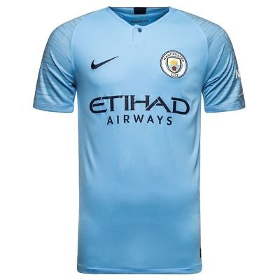 Manchester CITY Home Shirt with free Shorts 2018/19 Adult sizes Jersey & Short