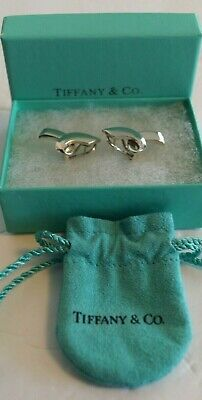 cb413650a RARE HTF Vintage Tiffany & Co Sterling Silver Paloma Picasso Ribbon Bow  Earrings