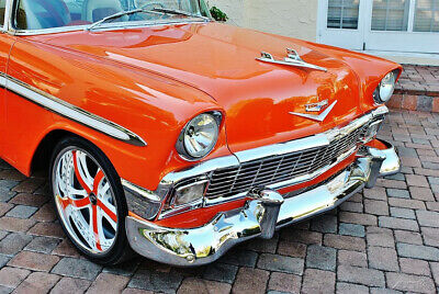 1956 Chevrolet 210 406/475hp Crate Motor Restored $100k Build 1956 Chevy restro mod  Forgiato Wheels Frame Off Restoration 100k build