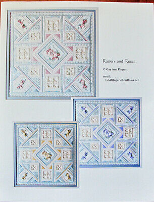 Gay Ann Rogers Ruskin and Roses Counted Needlepoint Chart/Pattern
