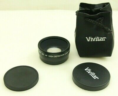 Vivitar  HD4 MC AF High Definition 0.43x Wide Angle Converter w/ Macro Japan