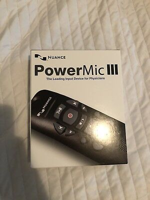 NUANCE PowerMic III Dragon Naturally Speaking Microphone 9ft Cable