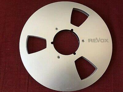 """1 X 10.5 1/4"""" Metal Reel To Reel with Tape and Revox Logo"""