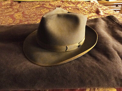 58ca39283 VINTAGE MENS ROYAL Stetson Long Oval Size 7 Dark Gray Used - $35.00 ...