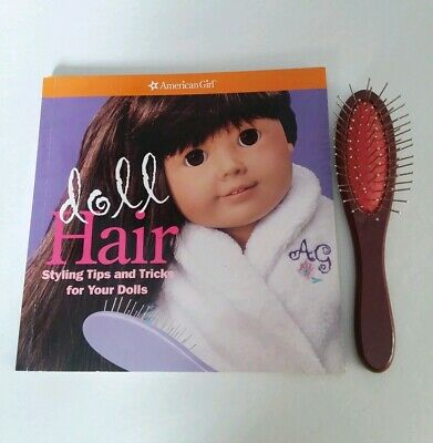 American Girl Doll Hair Brush AND AG Doll Hair Book - retired