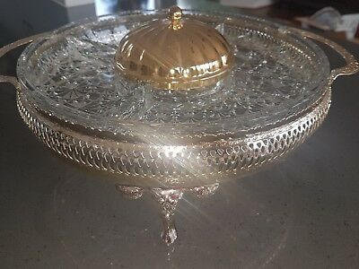 Queen Anne silver plated serving set