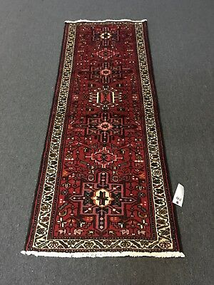 Sale Hand Knotted Persian Gharajeh-Tabrizz,geometric Rug Runner Carpet 2'5x6'6