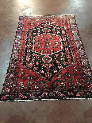"""On Sale Beautiful Hand Knotted Persian Geometric Area Rug Carpet 4x7,4'3""""x6'8''"""