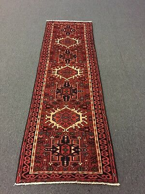 OnSale Hand Knotted Persian Gharajeh-Tabrizz Geometric Rug Runner Carpet 2'2x6'9