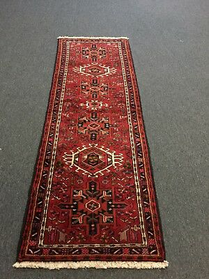 On Sale Great Hand Knotted Persian Gharajeh Geometric Rug Runner Carpet 2'3x6'7
