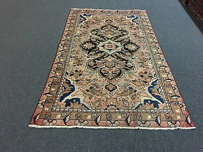 """Semi Antique,Hand Knotted Persian-Bakhtiari Traditional Rug Carpet,4'7""""x8'"""