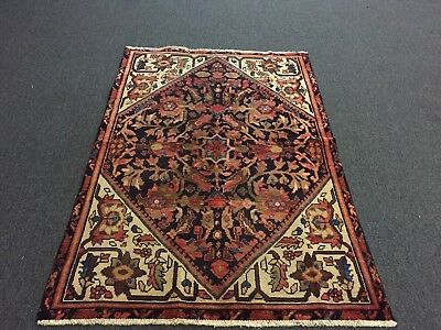 """On Sale Great Antique Hand Knotted Persian-Bakhtiar Rug Floral Carpet 3'10x5'10"""""""