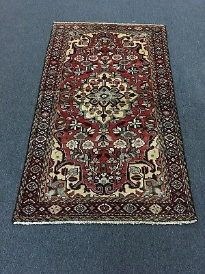 On Sale Beautiful Semi Antique Hand Knotted Persian Floral Area Rug Carpet 3'x5'