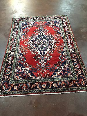 """On Sale Beautiful Hand Knotted Persian Floral  Area Rug RedCarpet 5x7,4'6""""x6'8''"""