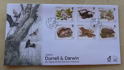 2017 Jersey Flora & Fauna Darwin Set Of 6 Stamps Fdc First Day Cover